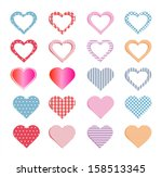 hearts collection.  | Shutterstock . vector #158513345