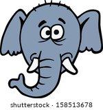 elephant head illustration | Shutterstock .eps vector #158513678
