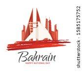 bahrain national day background ...   Shutterstock .eps vector #1585175752