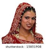 young indian bride wearing... | Shutterstock . vector #15851908