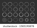 set of hand drawn circles ...   Shutterstock .eps vector #1585190878