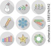 universal modern icon sheet for ... | Shutterstock .eps vector #1585196542