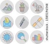 set of universal pixel perfect... | Shutterstock .eps vector #1585196548