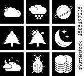 9 user interface icon set for... | Shutterstock .eps vector #1585197235