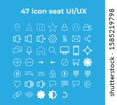 47 icons in one set can be used ...