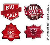 abstract big sale labels on... | Shutterstock .eps vector #158522072