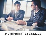 image of two young businessmen... | Shutterstock . vector #158522228
