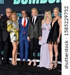 """Small photo of LOS ANGELES, USA. December 11, 2019: John Lithgow, Connie Britton, Charles Randolph, Nicole Kidman, Margot Robbie & Charlize Theron at the premiere of """"Bombshell"""". Picture: Paul Smith/Featureflash"""