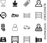 logistic vector icon set such... | Shutterstock .eps vector #1585234678