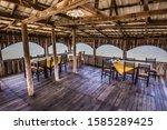 Wooden Restaurant In Patok Lagoon - Patok Fushe Kuqe Ishem Nature Reserve, Albania