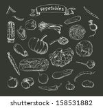 vector illustration of a set of ... | Shutterstock .eps vector #158531882