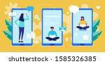 people communication phone ... | Shutterstock .eps vector #1585326385