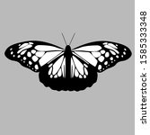 butterfly silhouette icon.... | Shutterstock .eps vector #1585333348