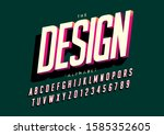 vector of stylized modern font... | Shutterstock .eps vector #1585352605