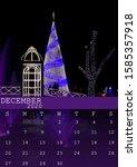December 2020 Calendar With A...
