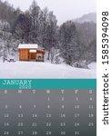 January 2020 Calendar With A...
