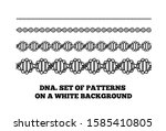 dna structure. deoxyribonucleic ... | Shutterstock . vector #1585410805