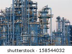 oil refinery schwechat in... | Shutterstock . vector #158544032