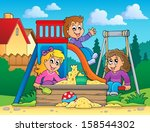 image with playground theme 2   ... | Shutterstock .eps vector #158544302