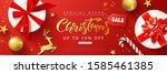 christmas sale web banner... | Shutterstock .eps vector #1585461385
