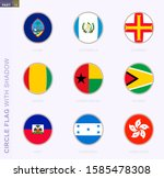 circle flag with shadow ... | Shutterstock .eps vector #1585478308