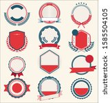 collection of retro vintage... | Shutterstock . vector #1585504105