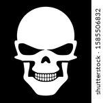 evil white halloween skull... | Shutterstock .eps vector #1585506832