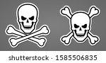 pirate symbol skull with bone... | Shutterstock .eps vector #1585506835