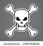 pirate symbol skull and bones... | Shutterstock .eps vector #1585506838