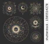 vector illustration set of moon ... | Shutterstock .eps vector #1585514278