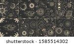 vector illustration set of moon ...   Shutterstock .eps vector #1585514302