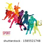 color sport background.... | Shutterstock .eps vector #1585521748