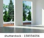 interior design  modern... | Shutterstock . vector #158556056