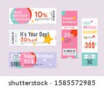 gift card with coupon code.... | Shutterstock .eps vector #1585572985