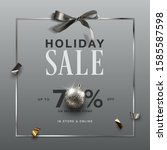 holiday sale design. holiday... | Shutterstock .eps vector #1585587598