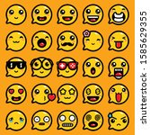 emoji expression vector chat...   Shutterstock .eps vector #1585629355
