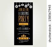 invitation merry christmas... | Shutterstock .eps vector #158567945