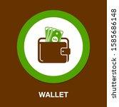 wallet icon   money wallet...   Shutterstock .eps vector #1585686148