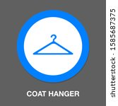 hanger icon. flat illustration... | Shutterstock .eps vector #1585687375