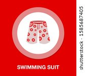 men swimming suit illustration  ... | Shutterstock .eps vector #1585687405
