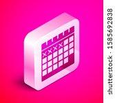 isometric calendar icon...
