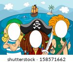 illustration of pirates with... | Shutterstock .eps vector #158571662