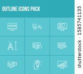 web design icon set and coding...