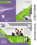 green and purple template for... | Shutterstock .eps vector #158574848