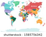 polical map of the world.... | Shutterstock .eps vector #1585756342