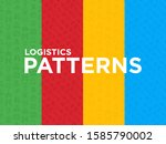 logistics seamless pattern with ... | Shutterstock .eps vector #1585790002