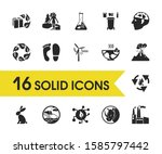 ecology icons set with...