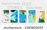 creative backgrounds for social ... | Shutterstock .eps vector #1585803055
