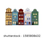 Isolated European Houses In...