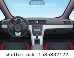 automobile black and red... | Shutterstock .eps vector #1585832122